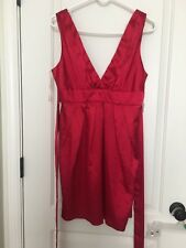 Forever 21 Women's Satin Dress Sz L Red Clothes