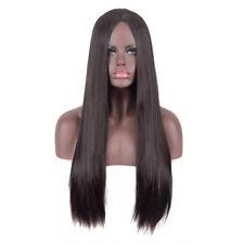 Middle part dark brown long sleek straight hair Nicki Minaj fashion wigs