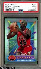 "1994 Finest Refractor #331 Michael Jordan HOF PSA 9 MINT "" The Goat """
