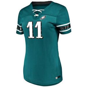 Women's Majestic NFL Philadelphia Eagles #11Carson Wentz V-Neck Jersey Shirt NWT