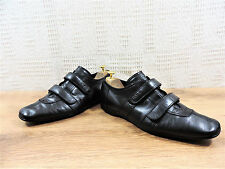 Prada Glove Noir Doux Chaussures En Cuir Baskets Sneakers UK 8.5 US 9.5 EU 42.5