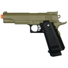 300 FPS AIRSOFT METAL M1911 FULL SIZE SPRING HAND GUN PISTOL w/ 6mm BB BBs Tan