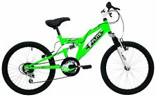 Flite Boy's Turbo Six Speed Junior Full Suspension Bike - White/green 13 Inch