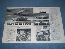 "1967 Corvette L-71 427 435hp Vintage Info Article ""Root of all Evil"""