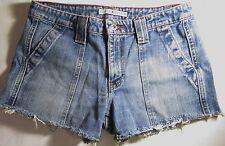 Tommy Hilfiger Vintage Blue Jean Booty Cut Off Short Shorts Womens Size 29 Waist