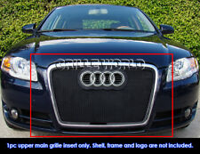 Fits 2006-2007 Audi A4 Model Black Stainless Steel Mesh Grille