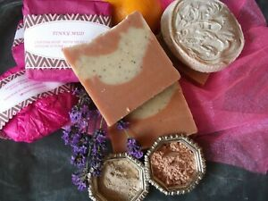 HANDMADE 100%NATURAL DETOX&FIRMING SOAP,DEAD SEA MUD&FRENCH PINK CLAY,PALM-FREE
