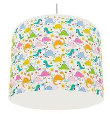 GIRLS DINOSAUR PINK LIGHT LAMPSHADE KIDS ROOM matches duvet set   FREE P&P