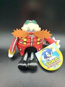 Sonic The Hedgehog 7-Inch Dr Eggman Plush BRAND NEW 2020 GO SEGA Jakks Pacific