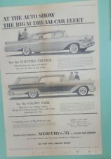 1957 Mercury Turnpike Cruiser/Colony Park newspaper ad/Jeep  Forward Control