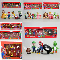 2019 Cartoon Action Figure Set Super Mario Animation Game Toy GIFT+ Box Package
