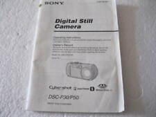 OPERATING INSTRUCTIONS FOR SONY Cyber-Shot DSC-P30/P50 Digital Still Camera 2001