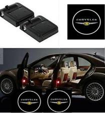 2Pcs WIRELESS LED Car Door Step Courtesy Shadow Laser Lights For CHRYSLER LOGO