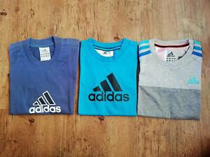 Adidas T-Shirts Set Jungen blau navy grau Angebot Tshirt Kinder Sport shirts NEU