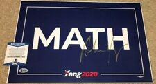 ANDREW YANG SIGNED CAMPAIGN POSTER 2020 PRESIDENT DEMOCRATS MATH BAS