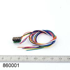 Prise décodeur 8 pôles NEM 652 pour loco non équipé digital LaisDcc 860001.