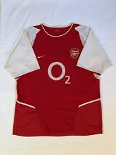 2002 Arsenal Fc Premier League Football Adult Xl Red Nike Soccer Jersey Gunners