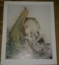 "Louis Icart lithograph/print ""Peacock"" copyright 1925 Paris,  2 available"