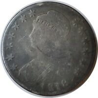 1818 50C CAPPED BUST SILVER HALF DOLLAR GOOD+ DETAILS AS PICTURED (11112025)