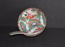 Japanese Porcelain Ware Hand Painted Rice Bowl and Spoon Geisha