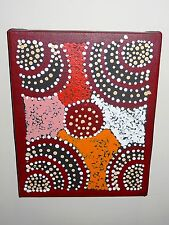 Australian aborigine original abstract painting, signed by Maurice Williams,