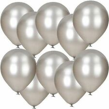 Metallic Balloons Large Size Helium Quality Party Decoration Pack of 30 Silver
