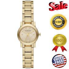 100% Burberry Swiss The City Light Gold-Tone Stainless Steel Bracelet  BU9227