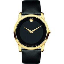 Movado Museum 0606876 Black Leather Swiss Quartz Men's Watch