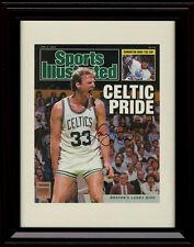 c7644ea4d119 Framed Larry Bird Sports Illustrated Auto Replica Print Boston Celtics Pride