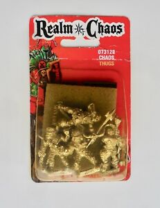 Warhammer Citadel Metal REALM OF CHAOS THUGS BLISTER C13 BROTHERS HELWUD & JAEK