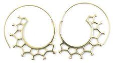 Molecule Spiral Earrings, Geometric Earrings, Tribal Brass Earrings, Festival