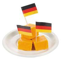 50 German Germany Flag Cocktail Sticks Picks Party Food Sandwich Cupcake Decor