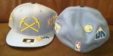Denver Nuggets REEBOK Fitted Hat NBA Baby Blue Throwback Retro Mens Size 7 3/4
