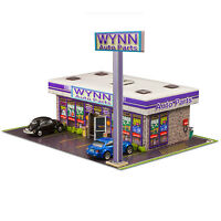 1/64 Slot Car HO Wynn Auto Parts Store Photo Real Kit Model Diorama Scenery