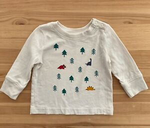HANNA ANDERSSON Dinosaur Trees Sueded Jersey Tee Shirt Top Size 70 6-12 Months