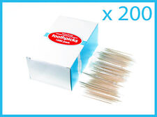 200 Individually Wrapped Wooden Toothpicks 65mm Home Party Hotel  Sydney