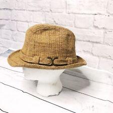 Vintage Stetson Men Wool Tweed blend Hat Banded Fedora Tan Check 6 7/8