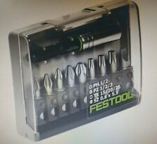 Festool SCREWDRIVER BIT SET WITH HOLDER 10Pcs Centrotec Mixed *German Brand