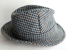 Tweed trilby hat mens 57 cm Hodges British size 7 Medium vintage 1970s country