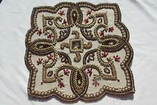 """NWT Kim Seybert Living Pair (2) of Jeweled Beaded 14""""x14"""" Square Placemats NEW"""
