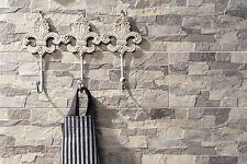 MUSTER der Wandverblender Natursteinoptik Aragon marengo grau 15x45cm