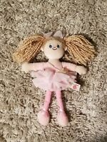 Adorable Vintage Keel Toys Simply Soft Collection Rag Doll Plush Pink Ballerina