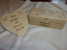 Alternative Personalised  Wedding Guestbook / box with sign & hearts   Rustic