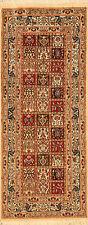 Alfombras orientales Auténticas hechas a mano persas 3829 (198 x 80) cm NUEVO