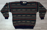 VTG 90s Cotton Traders Sweater - Coogi Style - Biggie Hip Hop Cosby - Size L