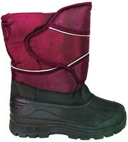Boys Girls Kids Thermal Fur Lined Snow Wellington Boots Wellies Pink Waterproof