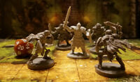 Skeleton Miniature Lot of 4 for Dungeons and Dragons 5e Rpg