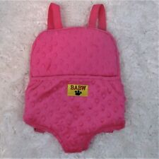 Build A Bear Babw Backpack Carrier Pink Fleece Adjustable Straps Accessory Eb1