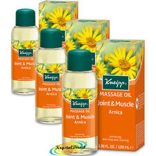 3x Kneipp Massage Oil ARNICA Joint & Muscle 100ml