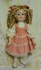 Dynasty Collection Porcelain Doll BLONDE hair banana, curls,blue eyes